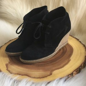 J. Crew leather wedge booties